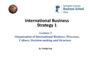IBS1 Lecture 3 International Strategy and Structure