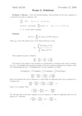 Exam 3 Solution on Theory of Partial Differential Equations