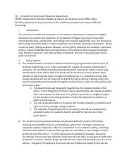 Policy Paper Sample 1