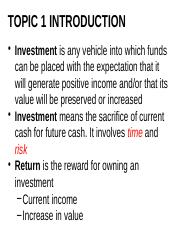 The_Investment_Environment_-_TOPIC_ONE.pptx