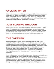 Cycling Water