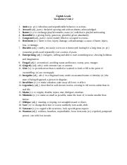 Eighth Grade - Vocabulary Unit 2.docx