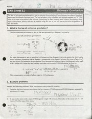 11th grade physics law of Universial Gravitation