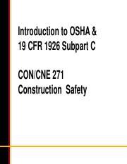 CON 271 : Construction Safety - Arizona State University -