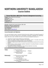 financial management course outline pdf