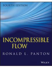 Ronald L. Panton, Incompressible Flow, 4th Ed., Wiley
