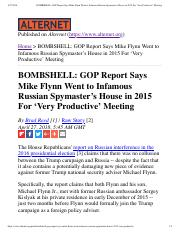 BOMBSHELL- GOP Report Says Mike Flynn W... in 2015 For 'Very Productive' Meeting.pdf