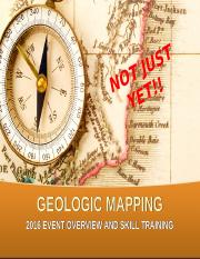 2015 GEOLOGIC MAPPING PPT