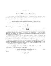 Lecture 32. Fractional linear transformations.pdf