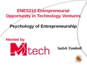 2C Psychology of Entrepreneurship