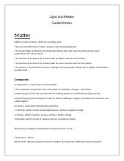 Light and Matter - Guided Notes Done.docx