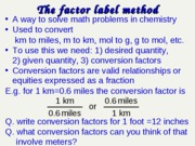 factor-label-method