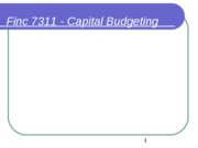 Financial Planning Lecture 5 Capital Budgeting.ppt