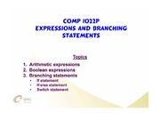 LN05-Expressions&BranchingStatements