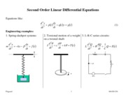 2nd Order Linear Equations