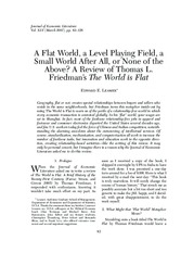 Leamer, World is Flat review