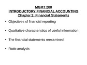 Mgmt 200 Spring 2010 Chap 2 Financial Statements.ppt