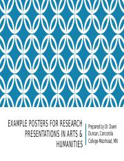 Example Posters for Research Presentations in Arts &.pptx