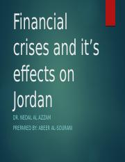 Financial crises and it's effect on Jordan.pptx
