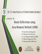 Lecture 19 Beam Deflections (AMM)