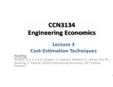 CCN3134 Lecture 03