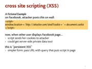 cross site scripting notes