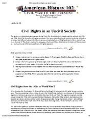 H102 Lecture 26_ Civil Rights in an Uncivil Society