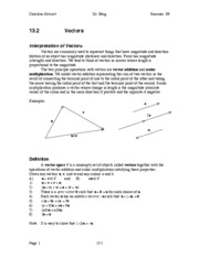 Calculus Notes 13.2