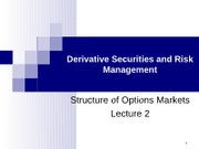 course material-Derivative Securities and Risk Managemen