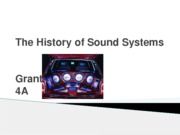 The History of Sound Systems