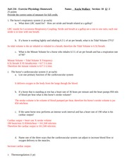 exercise physiology essay
