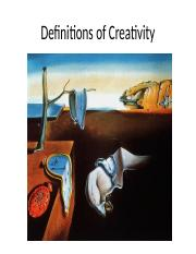 Chapter 3 - Definitions of Creativity.pptx