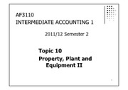 Topic10 Property, Plant and Equipment II