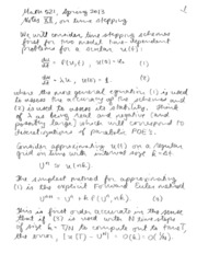 MATH 521 TIME STEPPING NOTES