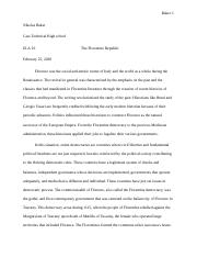 Essay Topic II- The Florentine Republic.docx