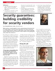 Security-guarantees-building-credibility-for-security-vendors_2016_Network-Security