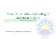 State Universities and Colleges Statistical Bulletin