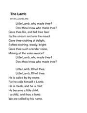 William Blake -The Lamb