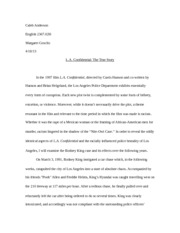 L.A. Confidential Research Paper