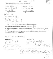Math 1680 Business Calculus Test 2 With Answer Key Fall 2014