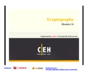 CEHv7 Module 18 Cryptography
