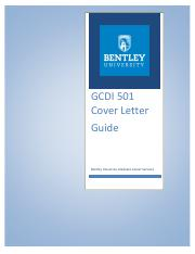 GCDI 501 WEEK 2 - CoverLetterGuide
