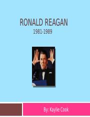 Ronald Reagan Powerpoint -Kaylie