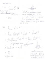 Complex analysis homework solutions