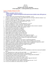 ISB Test 1 Study Guide
