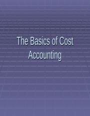 4- Basics of cost accounting