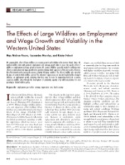 The Effects of Large Wildfires on Employment and Wage Growth and Volatility in the Western United St