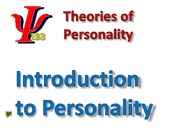 Intro to Personality slides (2009)