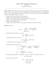 Chapter 9 Homework Answers
