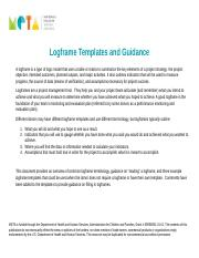 Logframe templates and guidance 1cx logframe templates and logframe templates and guidance 1cx logframe templates and guidance a logframe is a type of logic model that uses a table or matrix to summarize maxwellsz